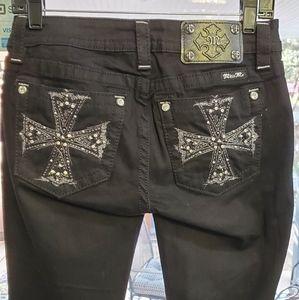 Miss me black Celtic cross jeans 26x34